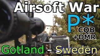Airsoft war - Gotland - Sweden! P*