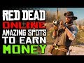 Amazing Spots To MAKE MONEY in RDR2 Online With HUNTING & FISHING| Red Dead Online Money Making!