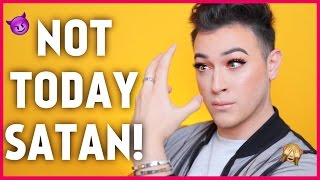 FULL FACE USING MY OPPOSITE HAND MAKEUP CHALLENGE | Manny MUA