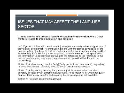 Learning Session 35: The Land Sector in INDCs and the 2015 Agreement