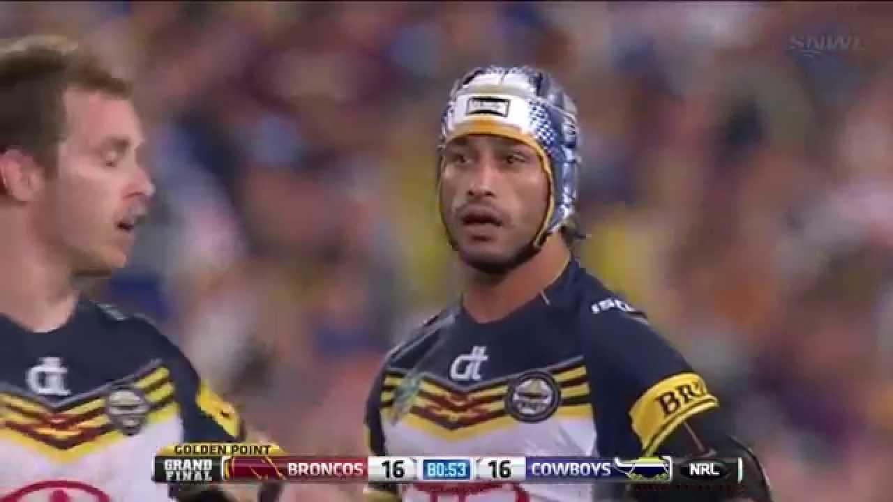 NRL Grand Final 2015 - Last Minute Cowboys vs Broncos + GOLDEN POINT
