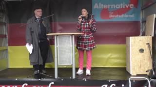 AfD-Demo Bielefeld: Rolf Diekwisch, Christian Blex & Leyla Bilge (05.11.2016)