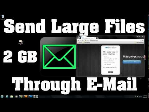 Attach Very Large Files To E-mail - Gmail - Hotmail - Yahoo! - AOL