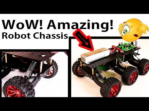 6 WD High Speed Crawler Robot Chassis with Suspension Assembly