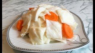 Маринованная Капуста / Pickle Cabbage / Салат из Капусты / Постное Блюдо / Быстрая Закуска