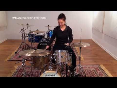 Emmanuelle Caplette On Her Sonor Martini Kit (Promo) 2015