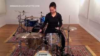 Emmanuelle Caplette On Her Sonor Martini Kit (Promo) 2015