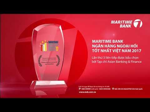 Maritime Bank Ngân hàng ngoại hối tốt nhất Việt Nam 2017