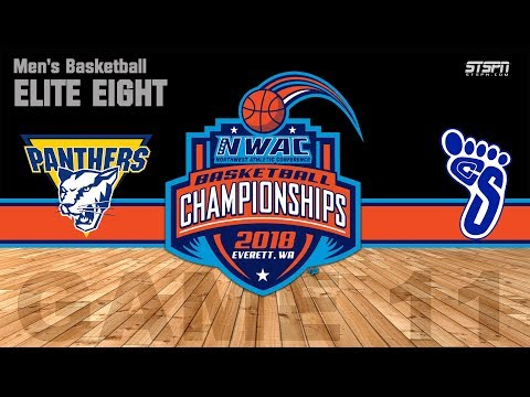 2018 NWAC MBB Elite Eight - Portland vs Spokane