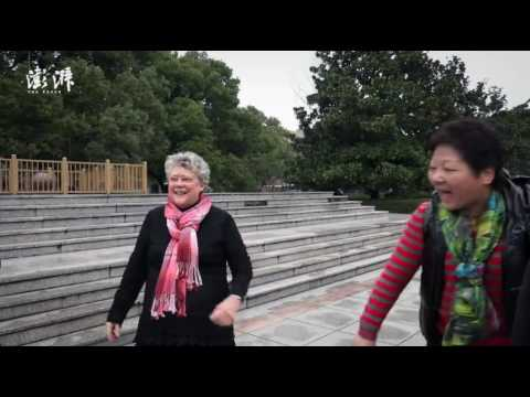 American granny in Shanghai builds friendship with locals via square dancing