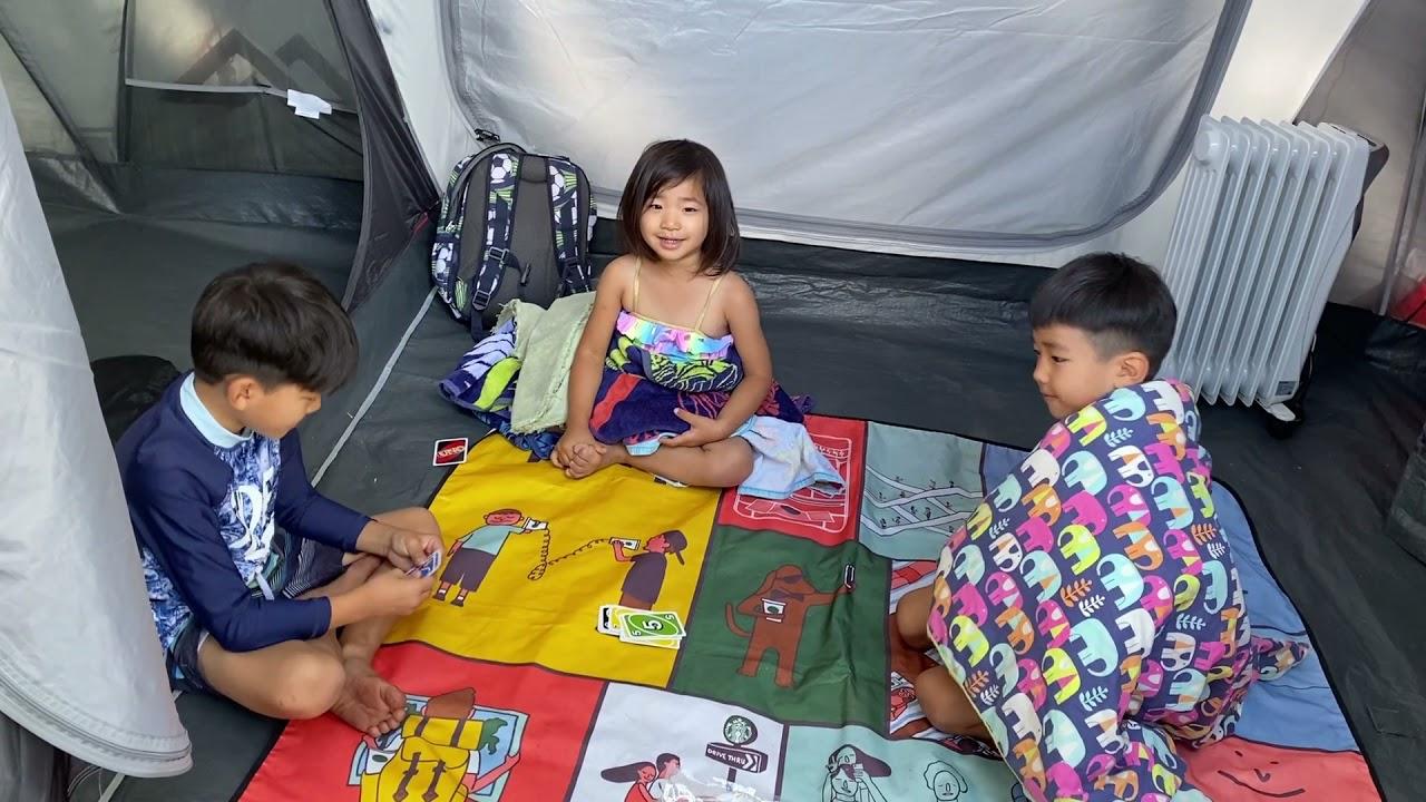 삼남매와 Hawke's bay 캠핑 브이로그1탄 /캠핑요리/뉴질랜드 캠핑 Hastings Top10 Holiday Park  /캠핑 스테이크