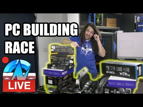 Live: PC Build Race - Building Production Computers For The Office
