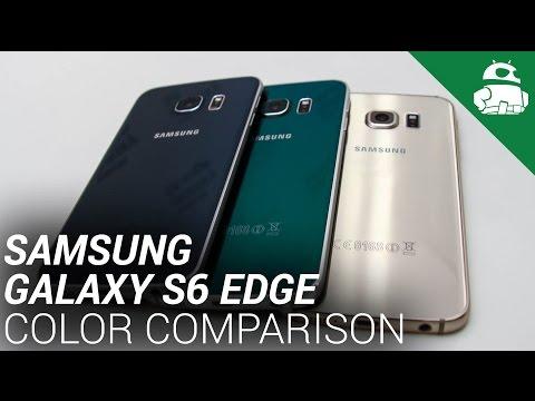 Samsung Galaxy S6 Edge Color Comparison