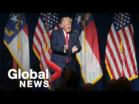Trump returns to political stage during Republican rally