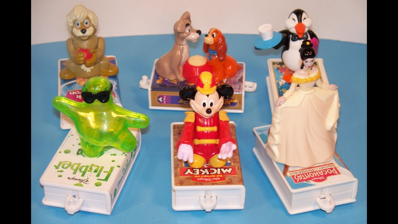 1998 Mcdonald S Disney S Video Favorites Set Of 6 Happy Meal Toy Review Youtube