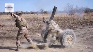 U.S. Marines, Australian Army LM777A2, M240G, M2 .50 Cal Live-Fire Assault.