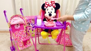 Minnie Mouse Play and Go Travel Set / ミニーマウス お世話セット