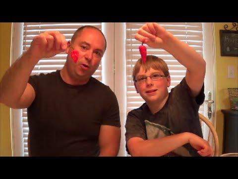 11-yr-old eats whole Ghost Pepper! (1 million Scoville) : Ghost Pepper Challenge, Crude Brothers