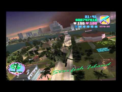 GTA Vice City How to find Hunter + 6 Stars Hunter Police Run + Shooting Down the Dodo in the Sky
