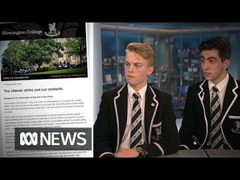 These two students convinced their headmaster to support the climate strike | ABC News