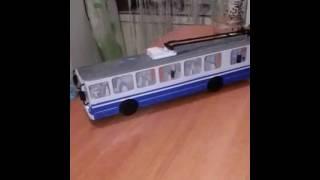 Обзор на игрушечный трамвай.