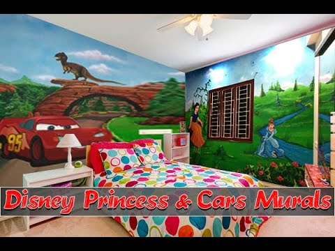 Dinosaur wall mural | 3d Disney Car wall Painting |Princes Wall Design