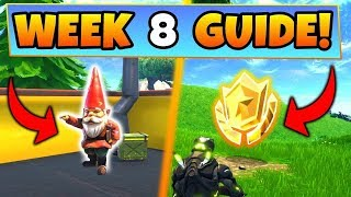 FORTNITE WEEK 8 HUNGRY GNOMES (EASIEST ONES TO GET)