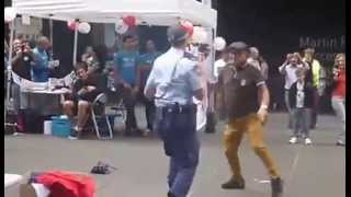 Female Police Officer just couldn't resist his Mating Dance thumbnail