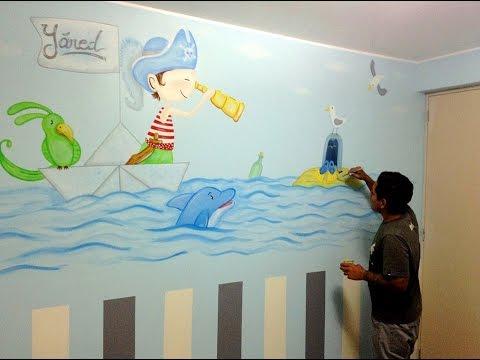Decoracion de cuartos peque os para ni os recien nacidos for Mural para habitacion