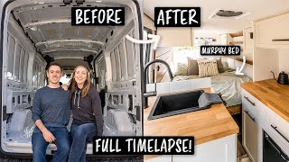 OUR BEAUTIFUL FULL VĄN CONVERSION TIME LAPSE (van build start to finish!!)