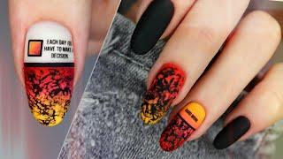 Дизайн ногтей штампом Градиент кистью Сочный и яркий дизайн ногтей 2020