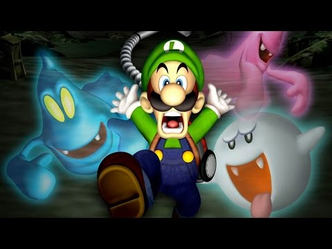 LUIGI'S MANSION Full Game Walkthrough (All Gold Portraits) - No Commentary