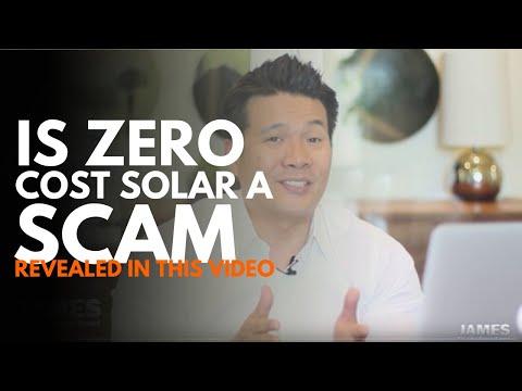 Zero cost solar is a SCAM!!