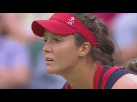Robson (GBR) v Sharapova (RUS) Women's Tennis 2nd Round Replay - London 2012 Olympics