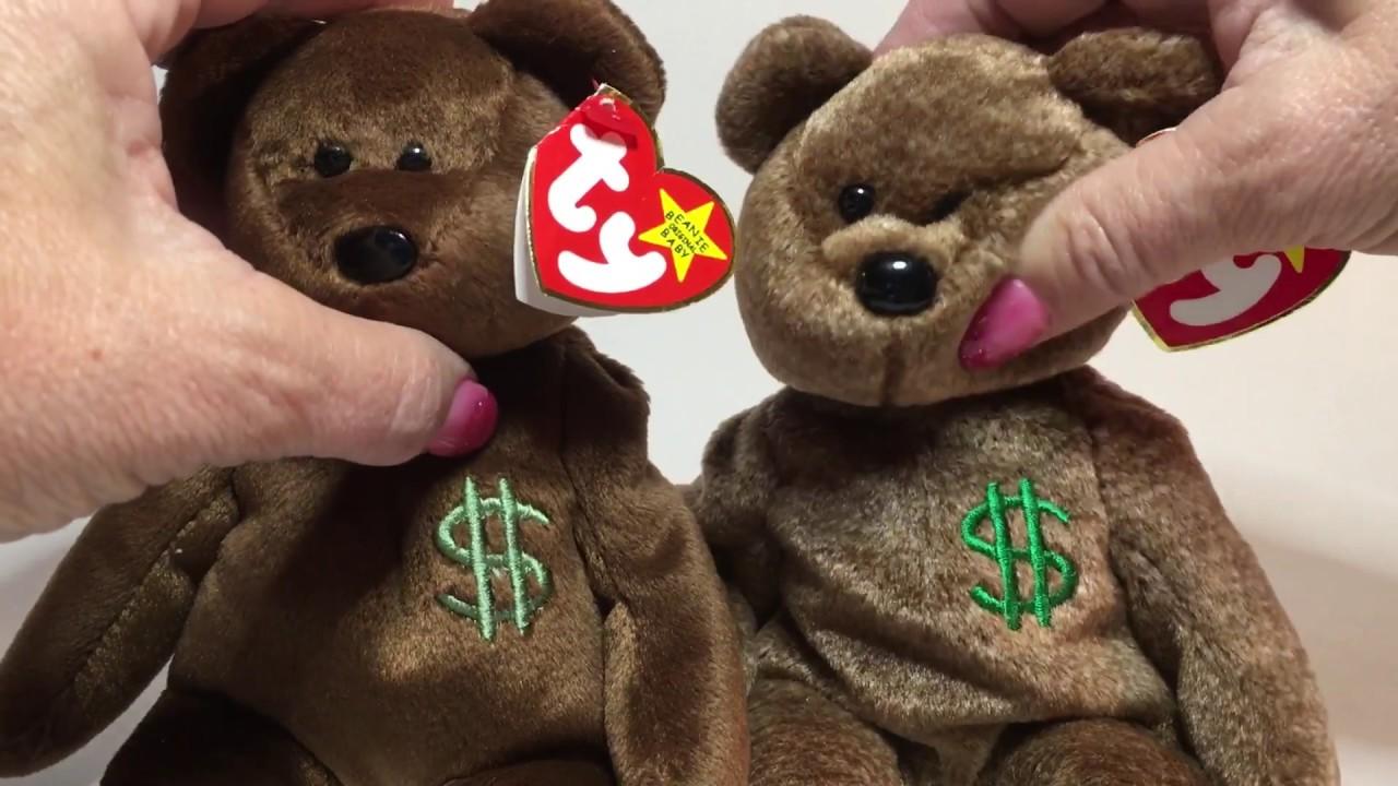 cdc4c857196 Ty Beanie Baby Billionaire   1 Bear - Fake vs Authentic - YouTube