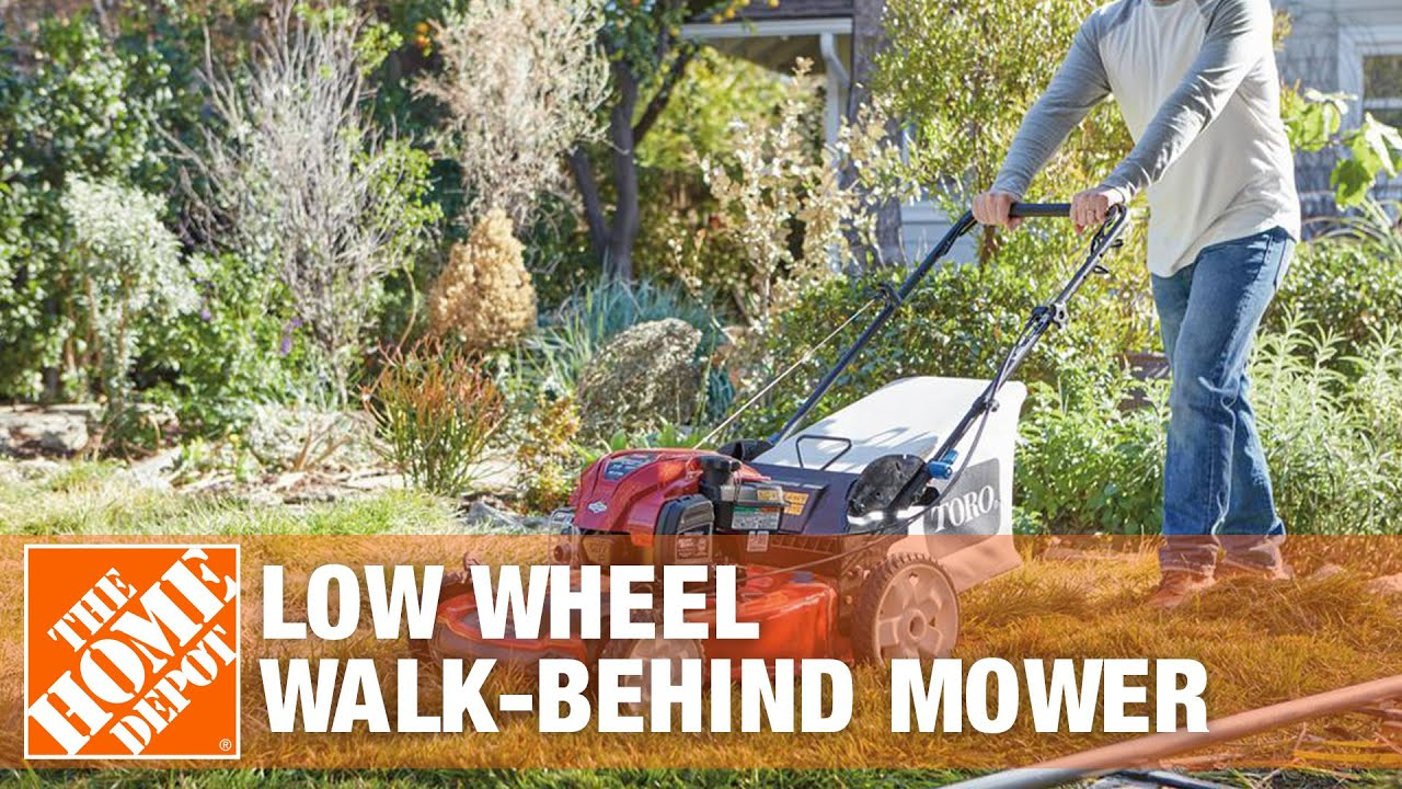 Toro Recycler 22 in Low Wheel Walk Behind Mower The Home Depot