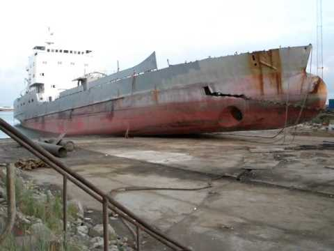 Rhodos Cement during scrapping 2009