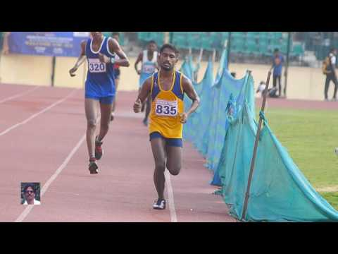 MEN'S  10000m RUN FINAL. 89th TAMILNADU STATE SENIOR ATHLETICS  CHAMPIONSHIP -  2016