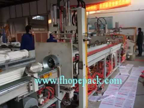 Automatic pipe bundling and bagging machine