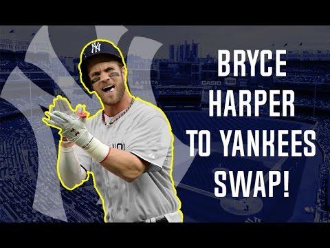 Bryce Harper Full Jersey Swap To Yankees Tutorial YouTube