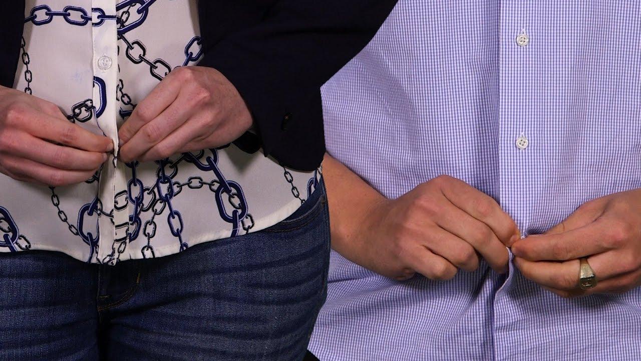 d604e670f38c9e Why Men's And Women's Shirts Button On Opposite Sides - YouTube