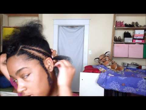 Braid Pattern for a Middle Part Sew In PART 1 | Corinne424 - YouTube