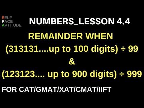 NUMBERS_LESSON 4.4_REMAINDER QUESTIONS_QUANTITATIVE APTITUDE FOR CAT/GMAT/XAT/CMAT