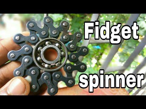 fidget spinner | DIY | fidget spinner from chain | Home made spinner | creative.