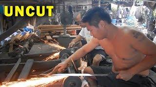 How Blacksmiths make Swords & Survival Knives UNCUT VERSION