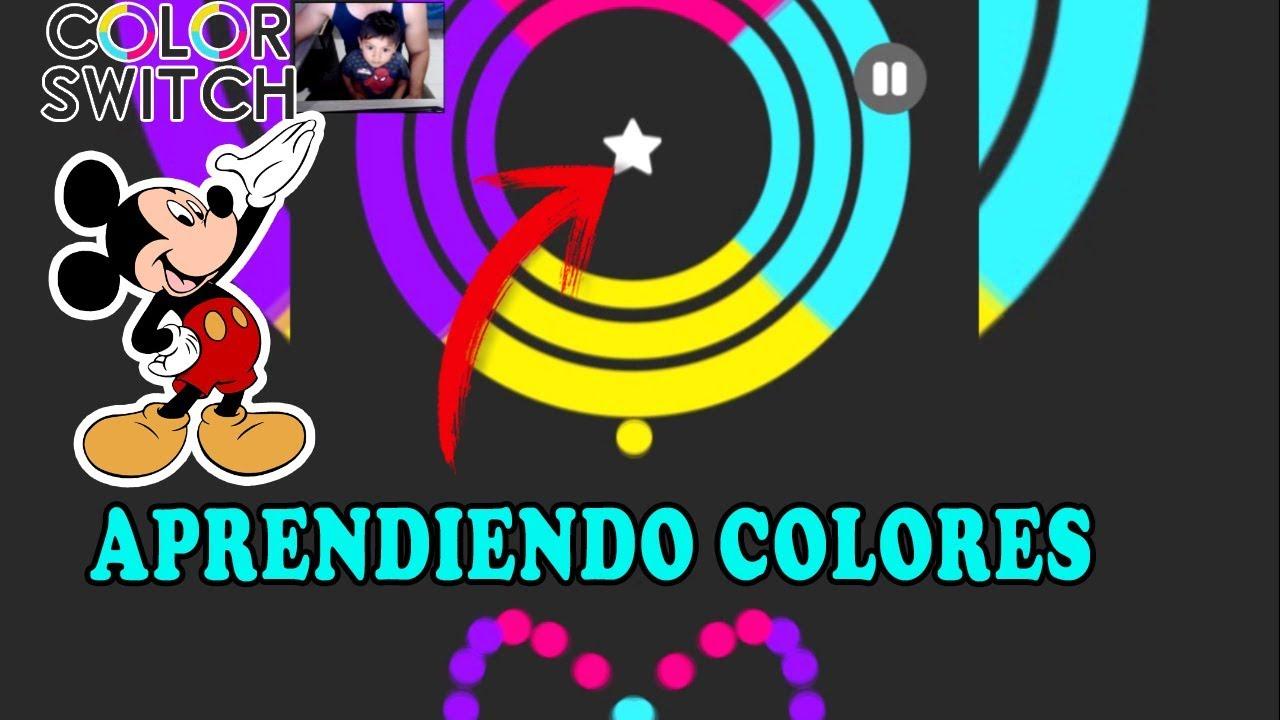 Juego Para Ninos Color Switch Aprendiendo Los Colores Youtube