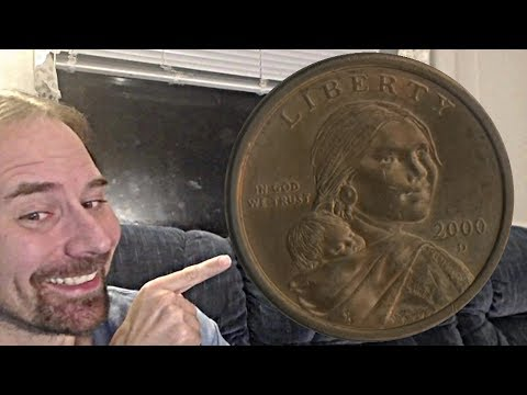 US 2000 D Sacagawea Dollar Coin Rotating