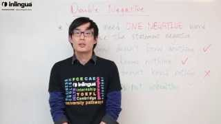 Double Negative - English Lessons with inlingua Vancouver