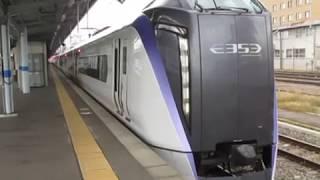 中央線E353系特急あずさ16号新宿行松本駅発車※発車メロディーあり