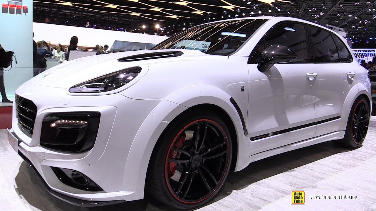 2017 porsche cayenne turbo techart magnum sport walkaround 2017 geneva motor show youtube. Black Bedroom Furniture Sets. Home Design Ideas